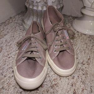 Like New Superga Mauve-Taupe Classic Sneaker